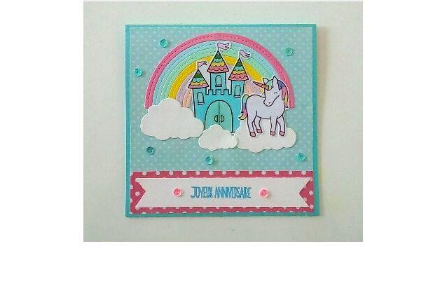 Carte d'anniversaire licorne