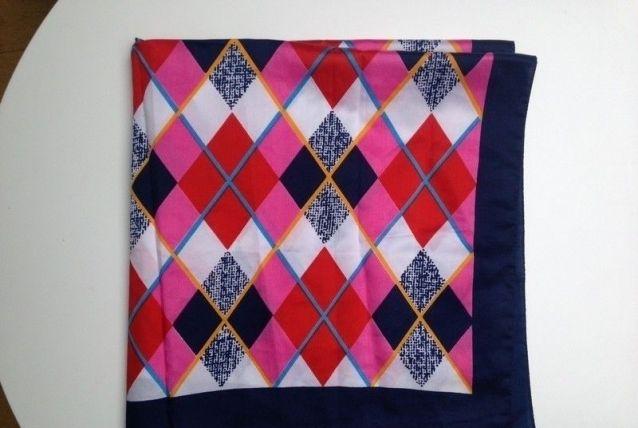 Foulard en satin multicolore
