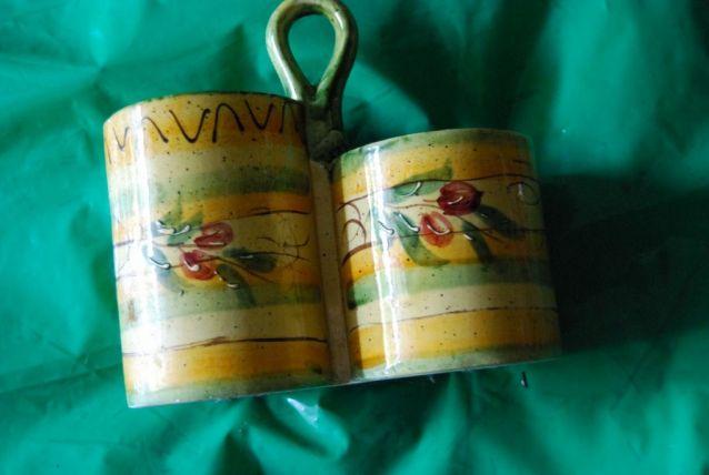 pot range-couvert décor olives