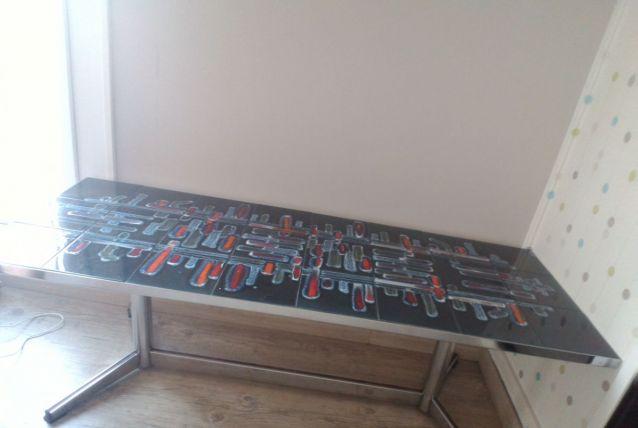 Table basse carrelée