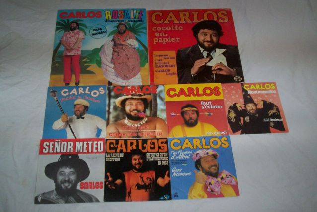 LOT DE 9 DISQUES DE CARLOS
