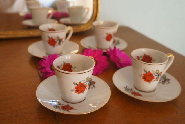 Set de 4 tasses + coupelles Bavaria