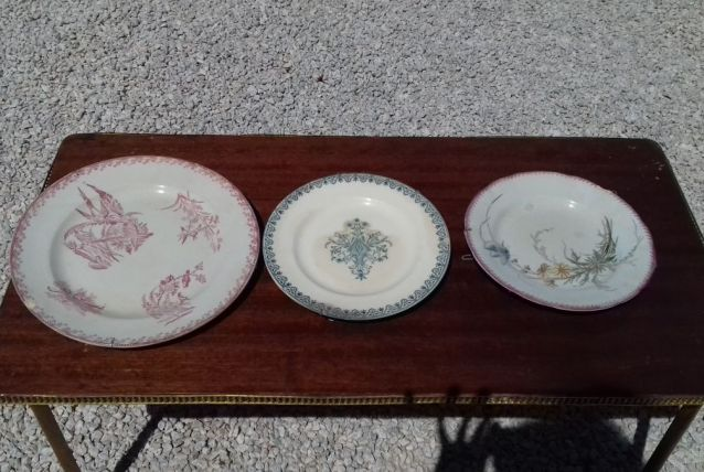 Set de 3 assiettes