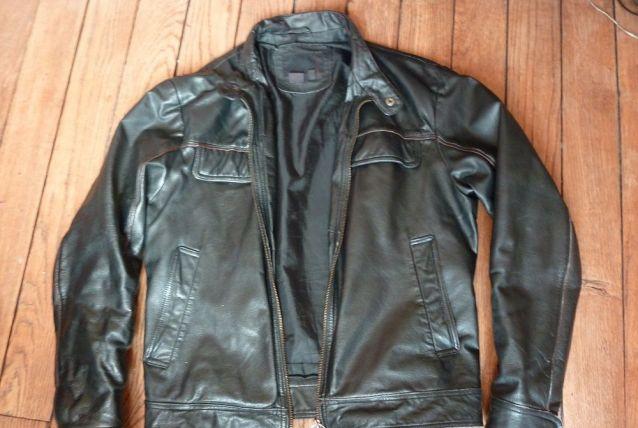 Blouson vintage cuir Zara
