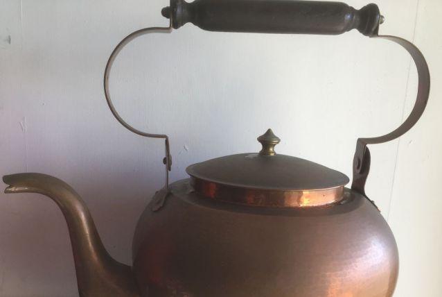 Grande bouilloire en cuivre XIXe