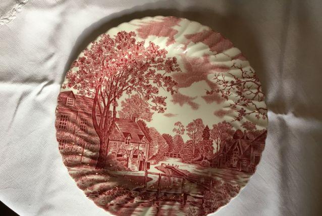 Plat rond porcelaine anglaise