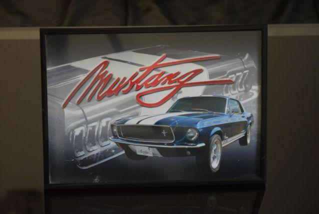 photo Mustang encadrée