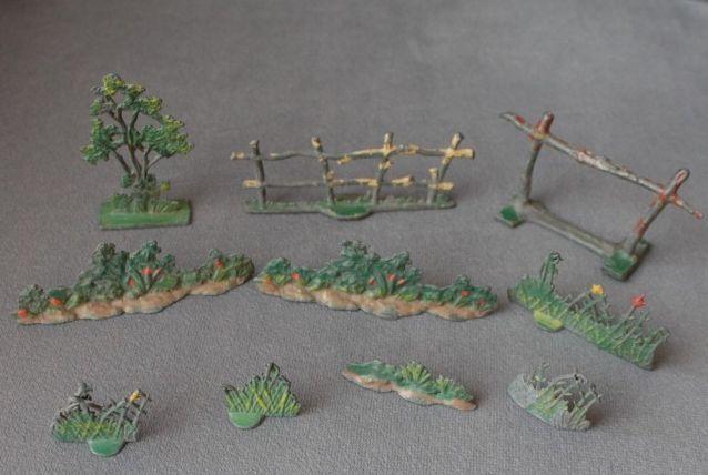 jouet ancien - décor soldat de plomb 1900