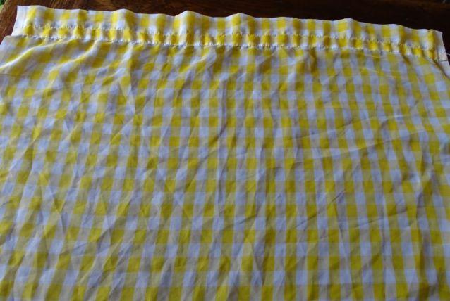 paire de rideaux vichy jaune