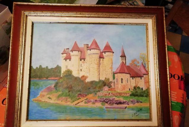 Peinture du château de val