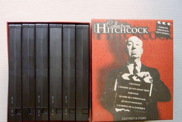"""Coffret de 6 cassettes VHS """"Hitchcock"""" V.O. sous-titrées"""