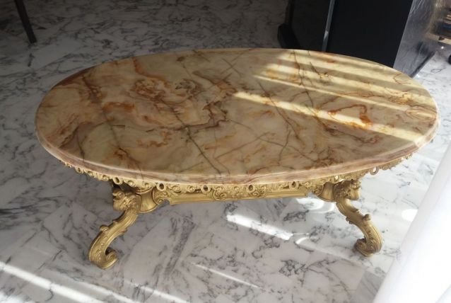 Table basse onyx