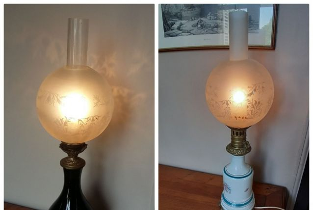 Paire de  lampes de bureau