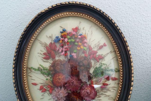 Cadre fleurs sechées