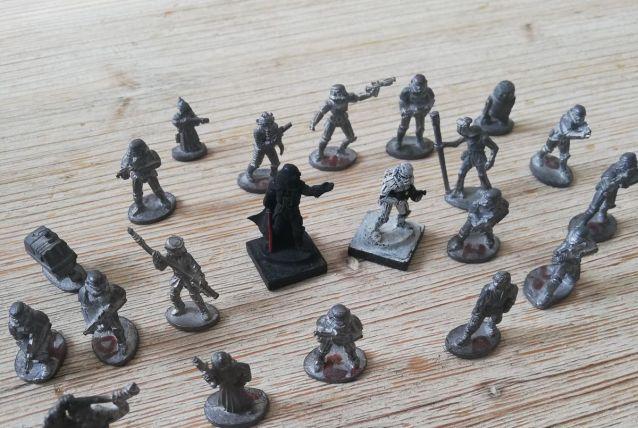 lot de figurines en plomb star wars