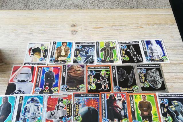 lot de cartes star wars
