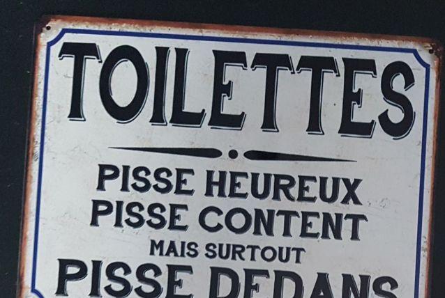 Plaque métal vintage Toilettes