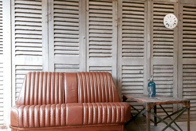 Canapé Banquette de Citroen DS 1969 en Cuir, en parfait état