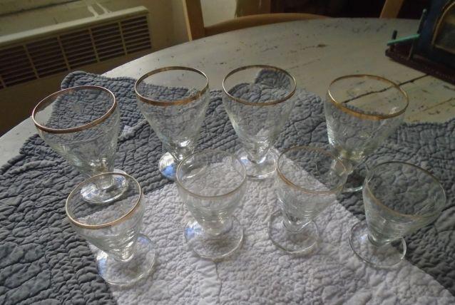 8 petits verres de bistrot