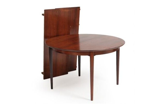 table à manger circulaire en palissandre