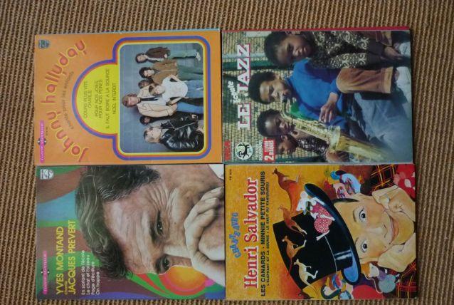 lot de 4 livres disques pour enfants vintage années 70