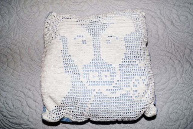 Coussin crochet vache