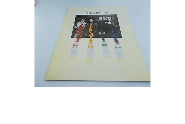 The Who 1981  programme officiel de la tournée