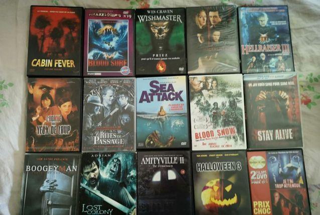 LOT de 15 DVD Films d'Horreur dont rares