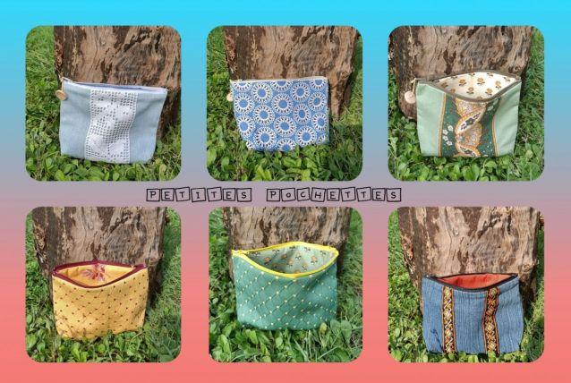 Pochettes Tissu / Jean issu de matériaux de récup'