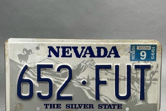 Plaque d'immatriculation du Nevada.