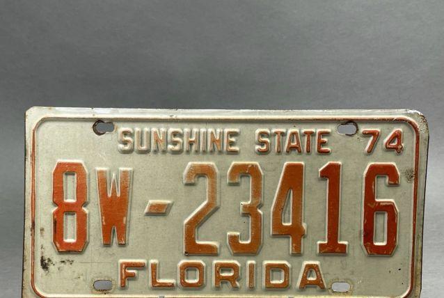 Plaque d'immatriculation USA Floride