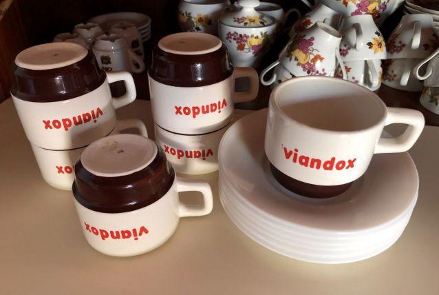 6 Tasses viandox avec sous tasse