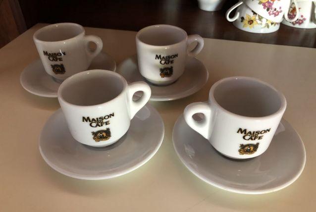 4 tasses à café style bar