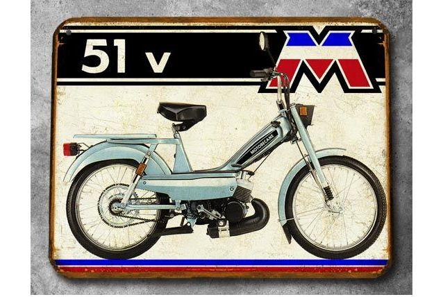 Plaque métal Motobecane 51V
