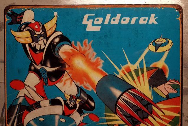 Plaque métal Goldorak