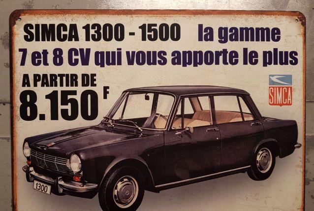 Plaque métal Simca 1500