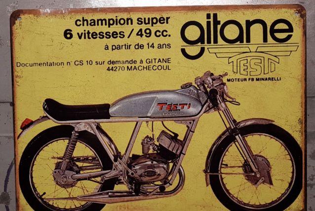 Plaque métal Gitane Testi