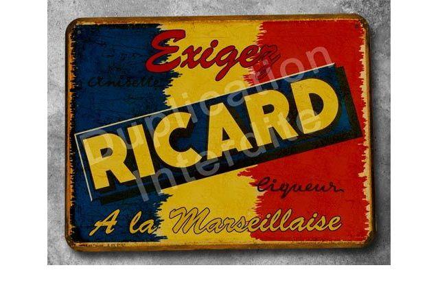Plaque métal Ricard