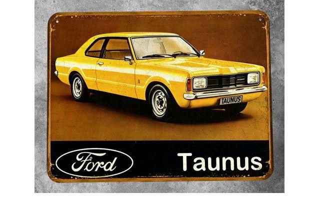 Plaque métal Ford Taunus